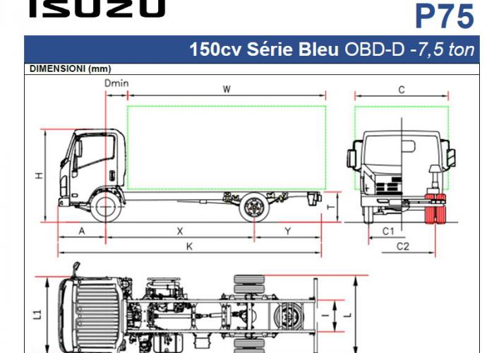 Katalog isuzu P75 150cv