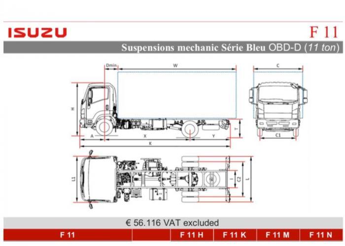 Katalog Isuzu F11 Mec. Susp.