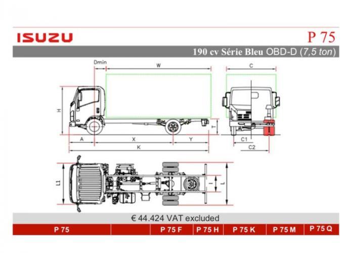 Katalog Isuzu P75 190cv