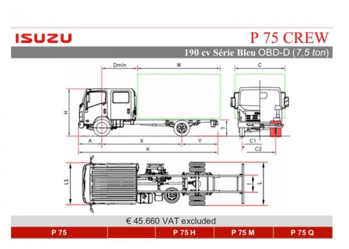 Katalog Isuzu P75 Crew 190cv